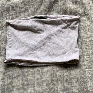 Topshop Silver Gray Tube Crop Top